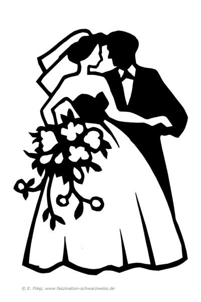 Brautpaar Scherenschnitt