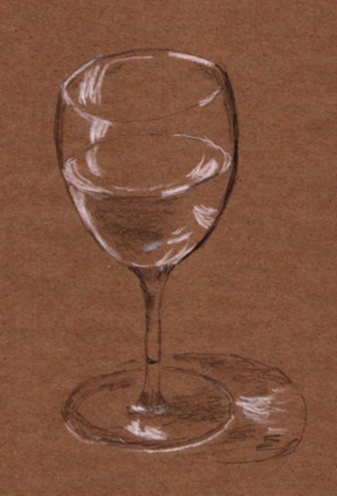 Zeichnen mit wenig Licht - Glas
