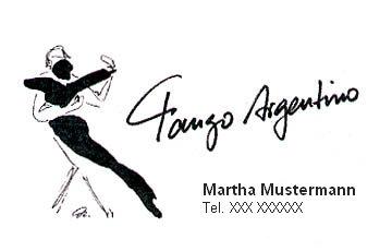 Tango Argentino Visitenkarte