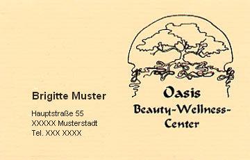 Visitenkarte Wellness